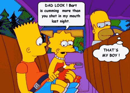 Cartoon porn simpsons porn bart and li animatedgif 450x322