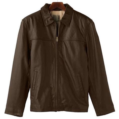 Mens open bottom classic leather jacket jpg 500x500